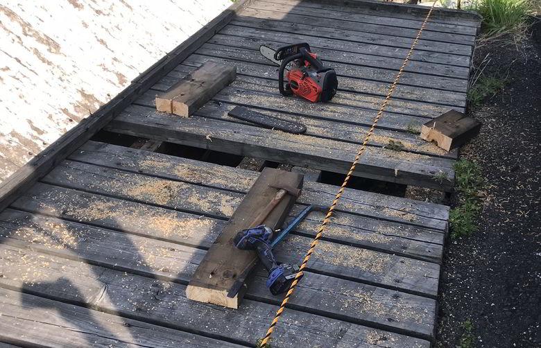 【木工仕事】佐世保市椎木町でウッドデッキの修繕ばい