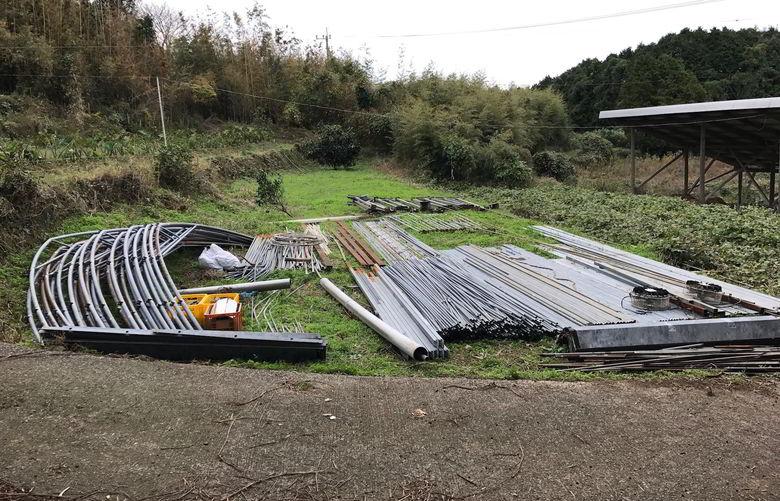 【解体仕事】佐世保市鹿町町のビニールハウスの解体終了ばい