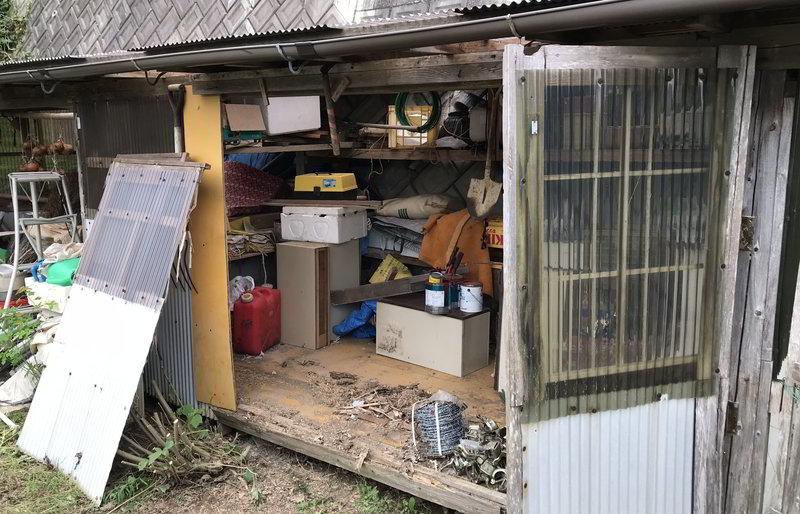 【修理仕事】佐世保市俵ヶ浦町で倉庫の修繕依頼ばい