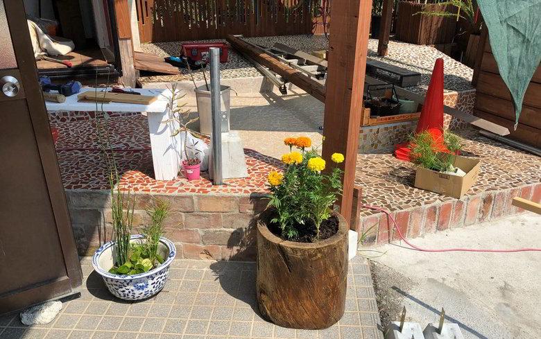 【店舗製作】店舗のフェンス兼植物の棚の制作依頼ばい