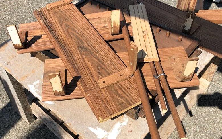 【店舗製作】店舗の棚の制作 浮造りばい