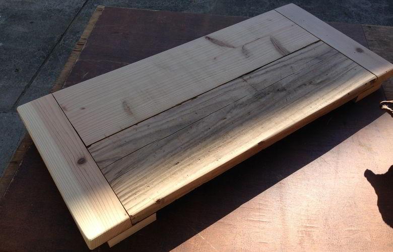 【木工仕事】廃材の板でテーブル作るばい
