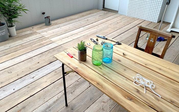 【草刈り・木工仕事】ウッドデッキの完成