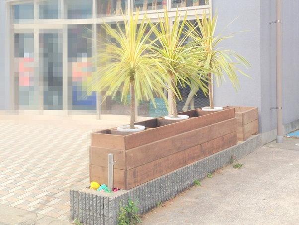 【木工仕事】店舗の花壇作り