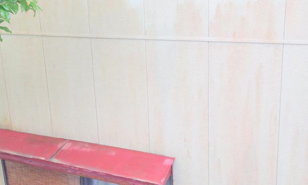 洗浄後の壁1