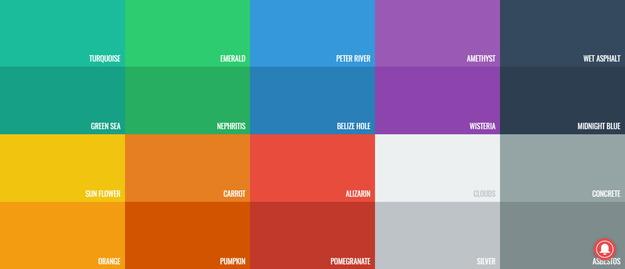 【ツール】フラットデザインの色選定に便利なWebサービス★Flat UI Colors
