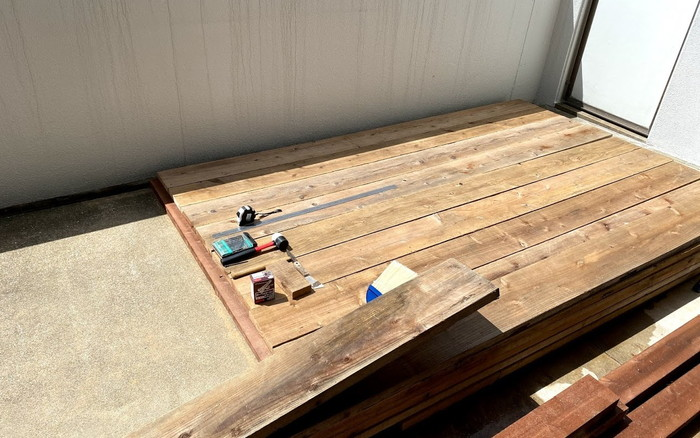 【木工仕事】ウッドデッキの制作依頼ばい