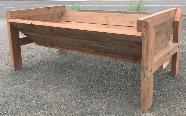 【木工仕事】大きな木製プランター作り
