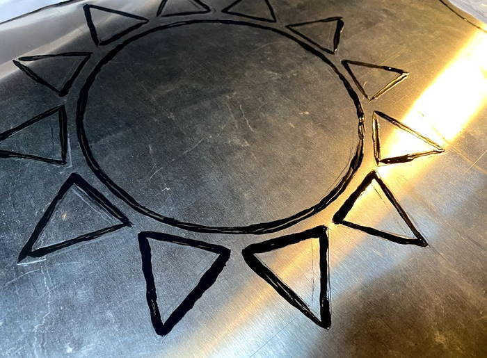 太陽熱温水器撤去看板下書き