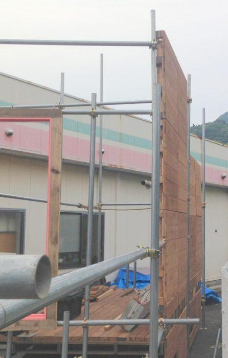 【店舗製作】外壁の設置