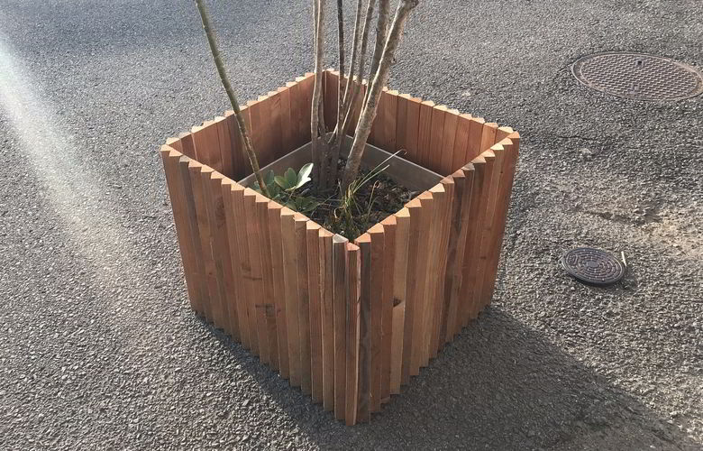 【木工仕事】三角板のウッドプランターば作るばい