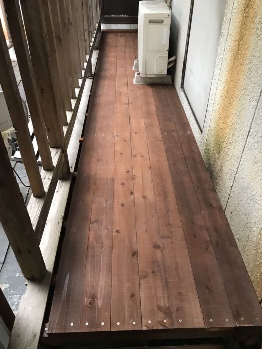 【木工仕事】通路のウッドデッキの制作