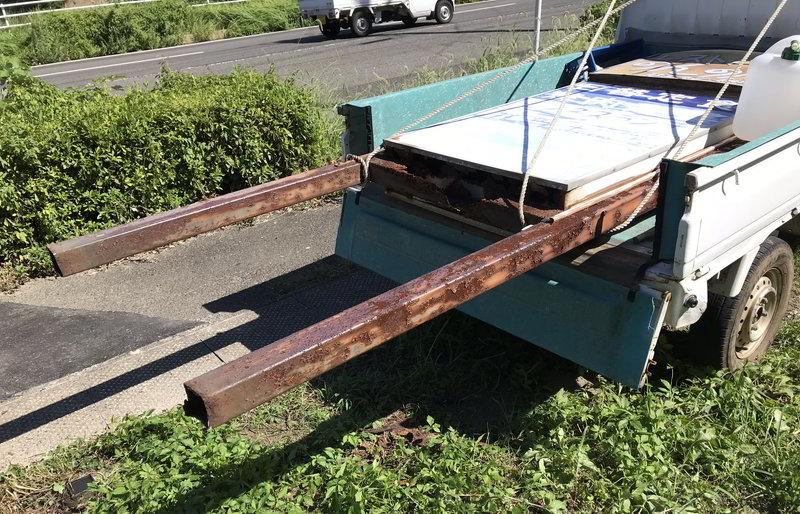【解体仕事】佐世保市相浦町で看板の撤去作業ばい