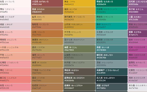 【ツール】さっと色を決めたいなら便利なWebサービス★原色大辞典